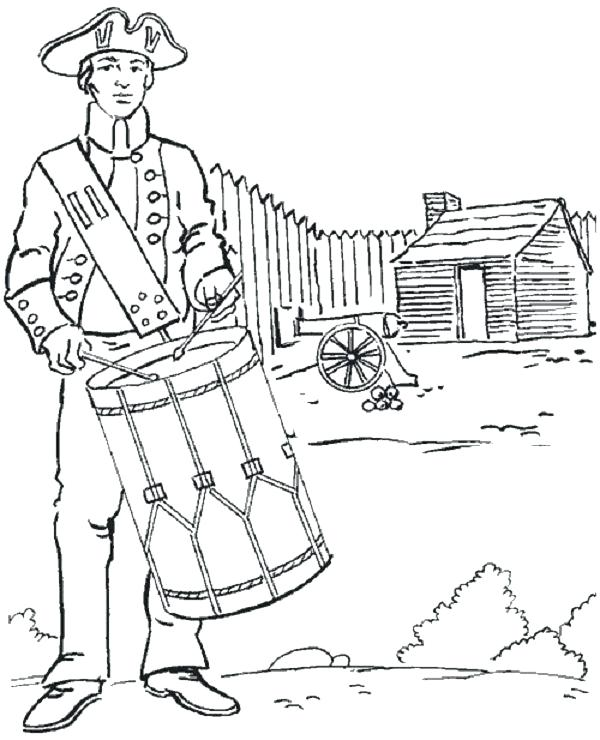 600x740 Revolutionary War Coloring Pages Devon Creamteas