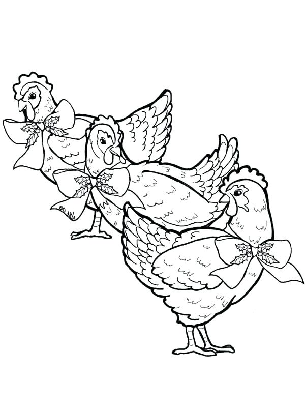 600x806 French Coloring Page Three French Hens Coloring Page French
