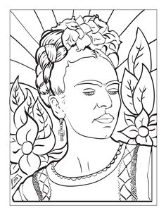 Frida Coloring Pages