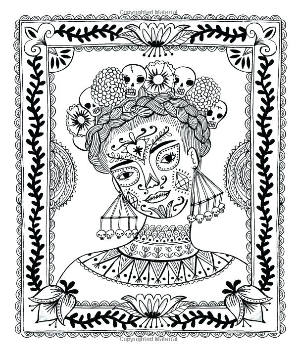 600x712 Frida Kahlo Coloring Pages Coloring Book Plus Colouring Search