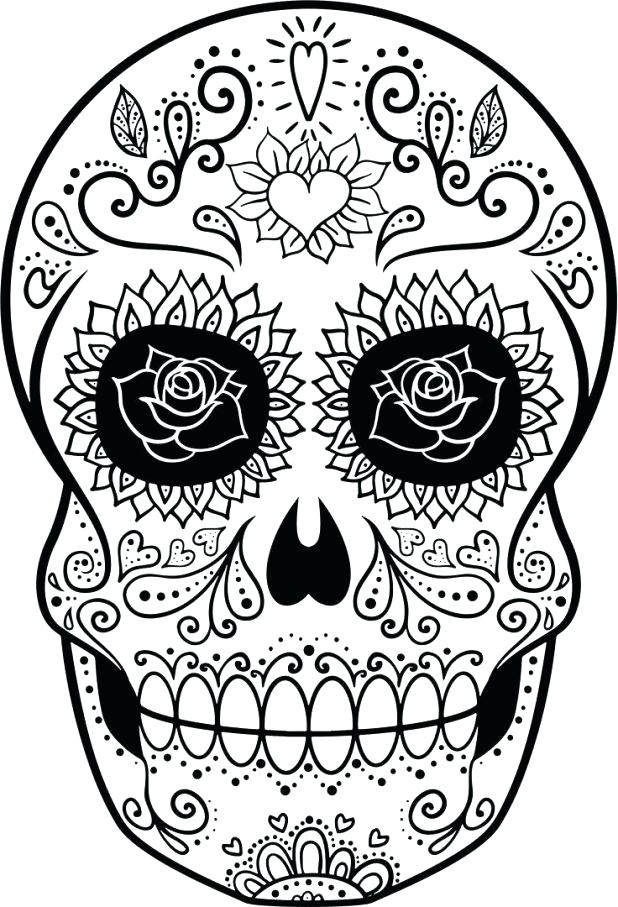 618x907 Frida Kahlo Coloring Pages Sugar Skull Coloring Page Exciting