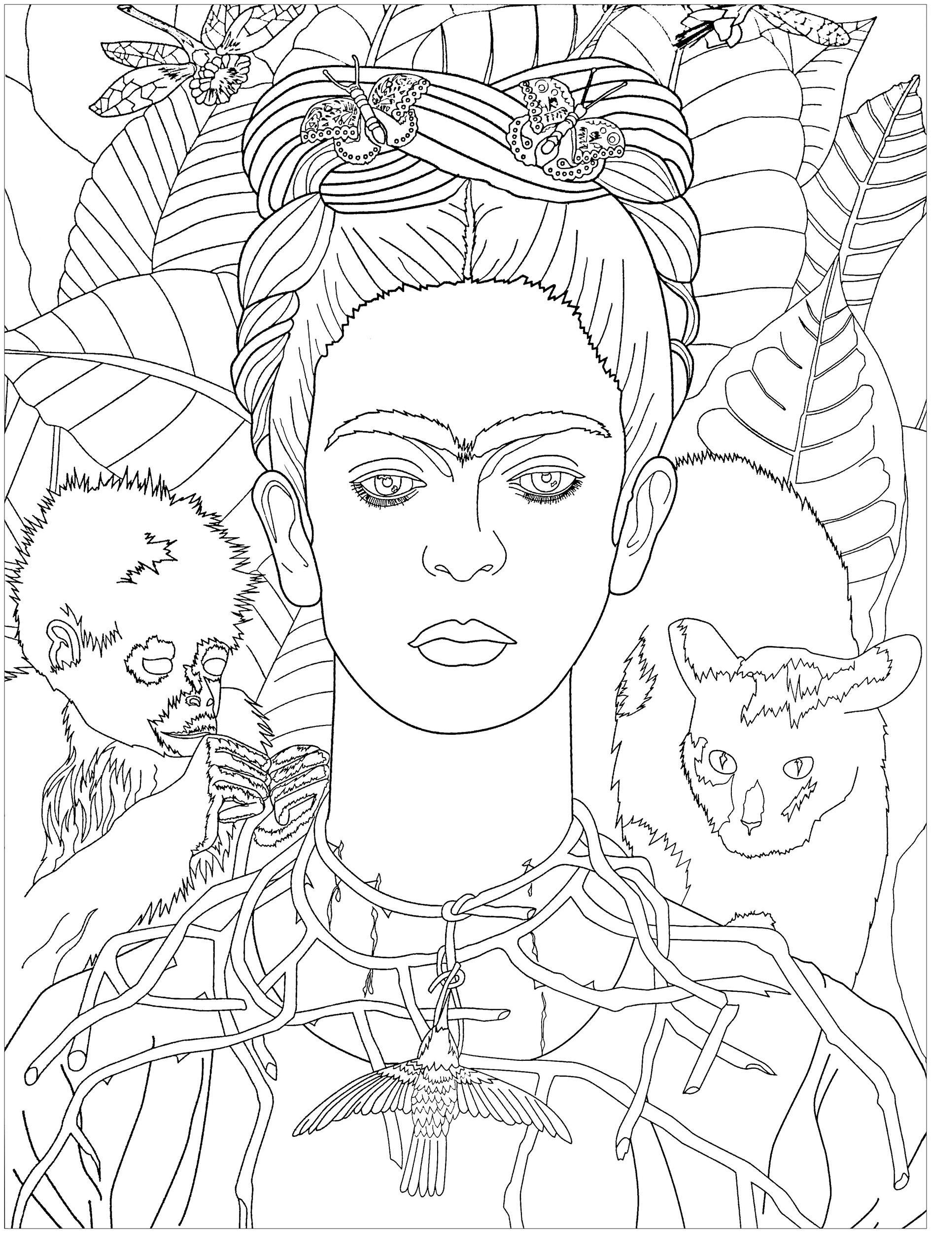 1889x2500 Frida Khalo Self Portrait
