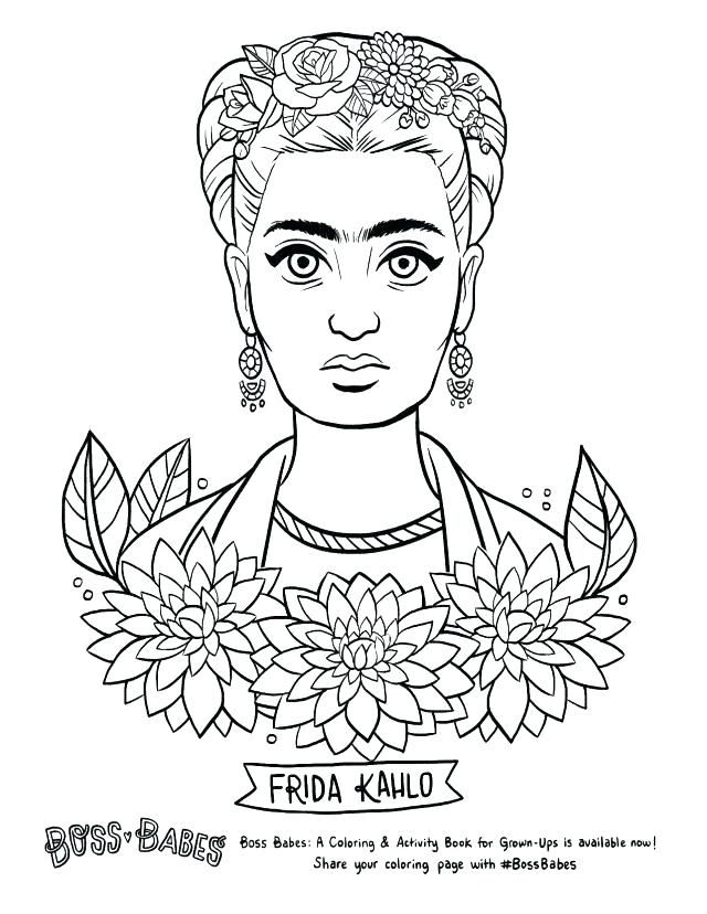 Frida Kahlo Coloring Pages At Getdrawingscom Free For