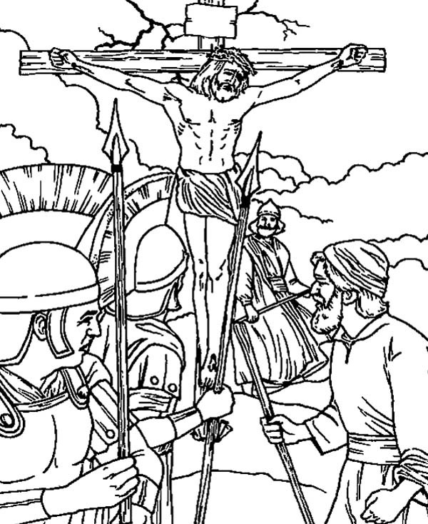 600x734 Good Friday Coloring Pages Crucifixion Of Jesus Christ Batch