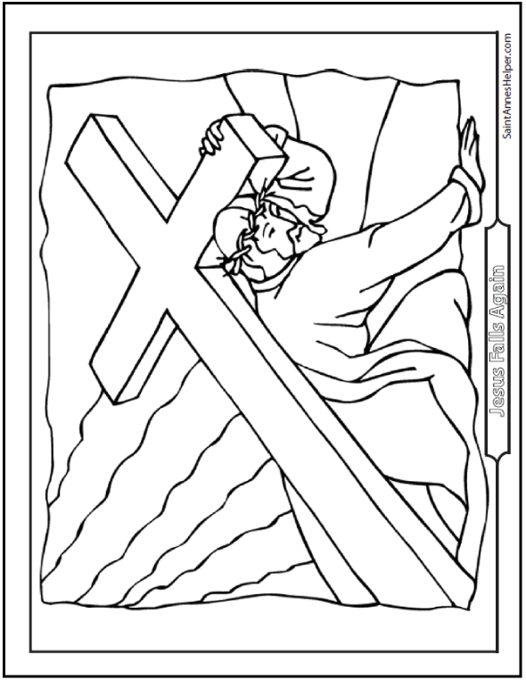 590x762 Jesus Good Friday Coloring Page