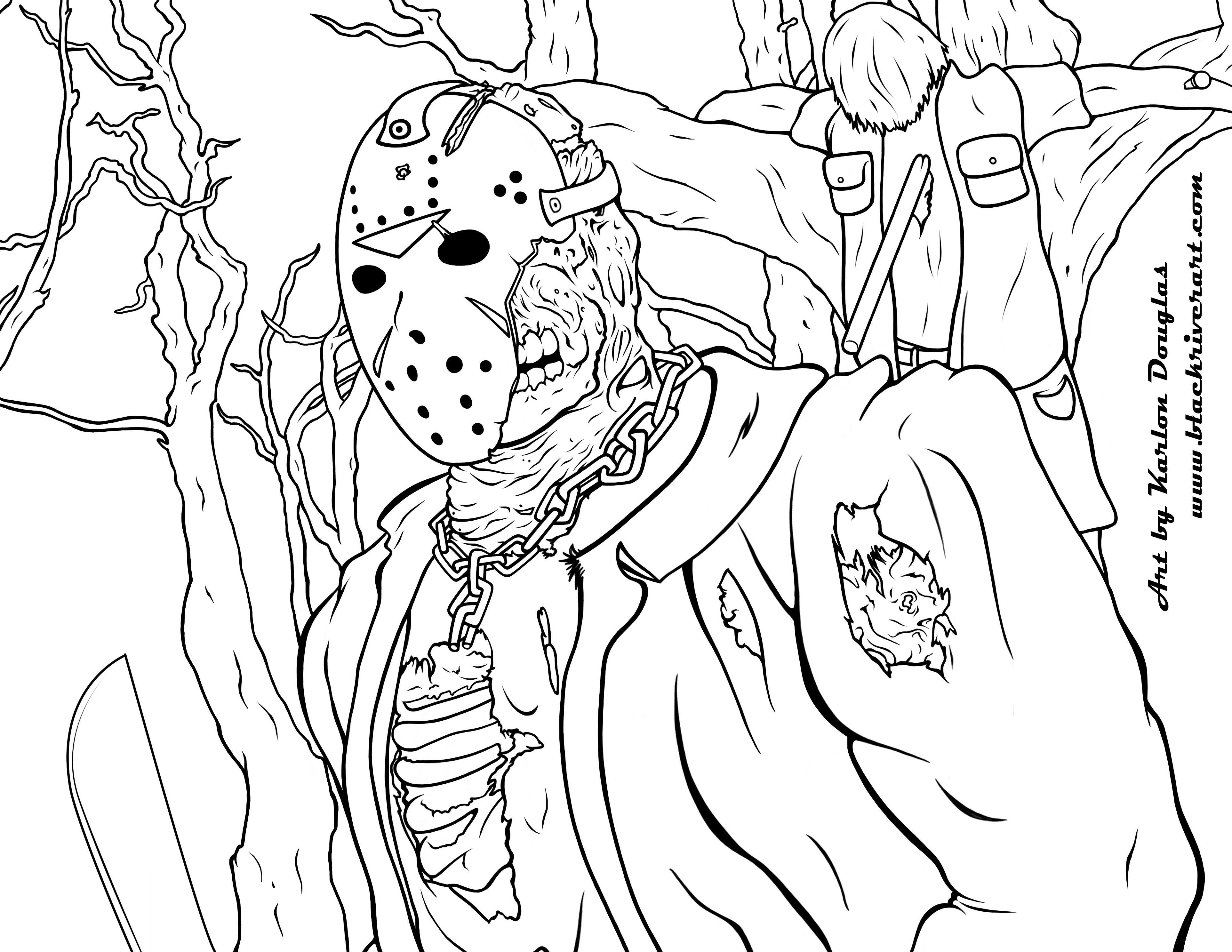 3850x2975 Friday The Jason Coloring Pages Download Coloring For Kids
