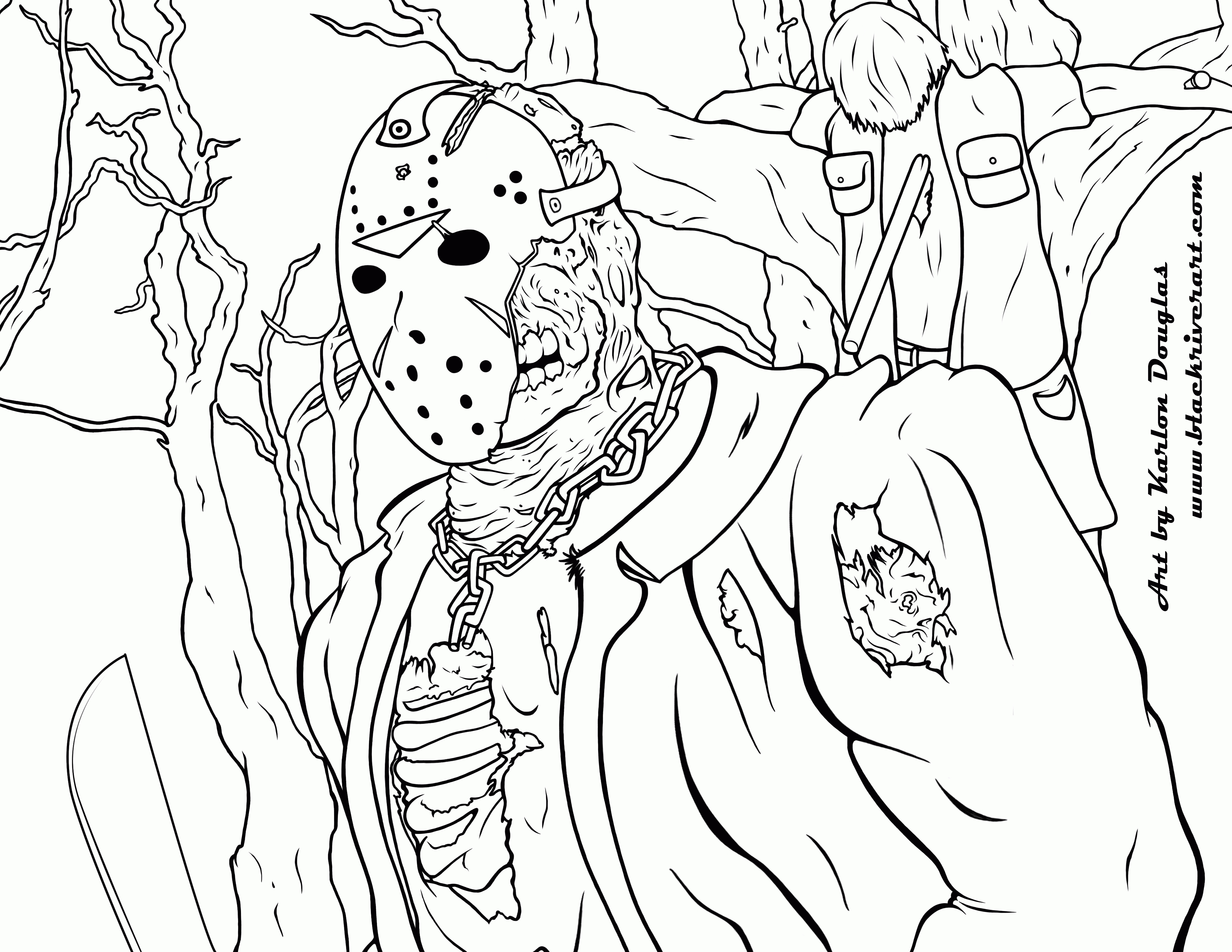 3850x2975 Friday The Jason Coloring Pages Printable