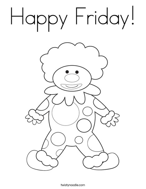 468x605 Happy Friday Coloring Page