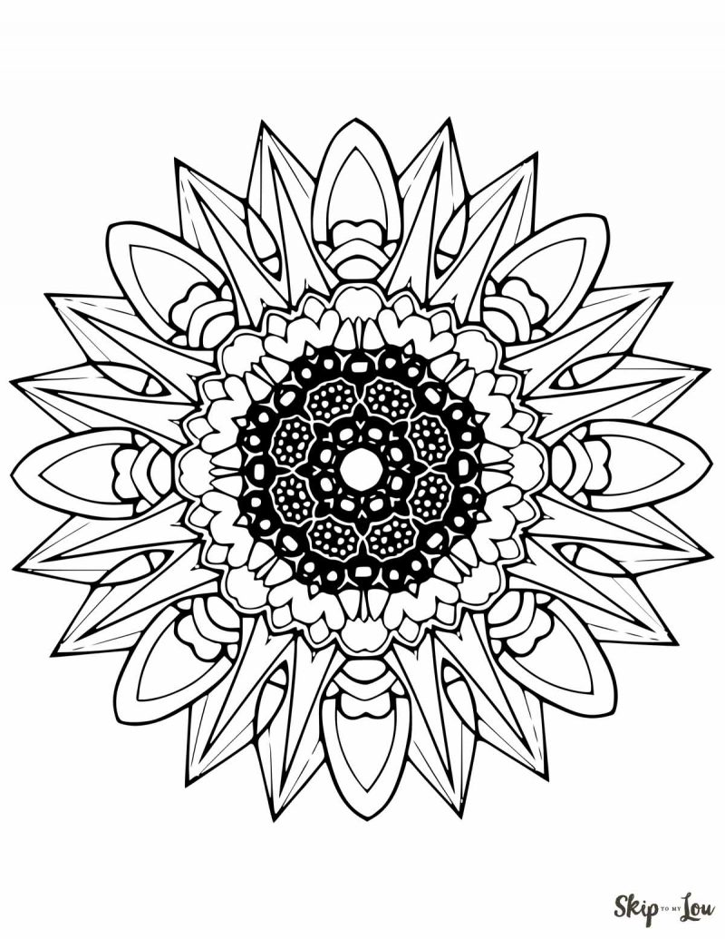 800x1035 Mandala Coloring Pages Skip To My Lou