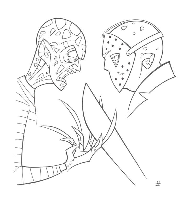 700x816 Perfect Jason Coloring Pages Sketch