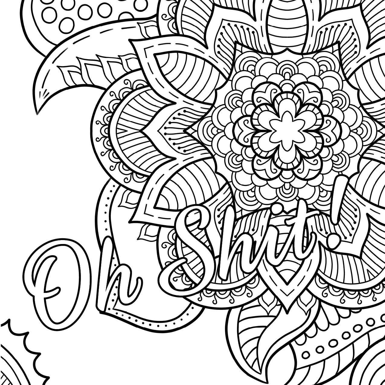 1275x1275 Swear Word Coloring Pages Printable Free Printable Coloring