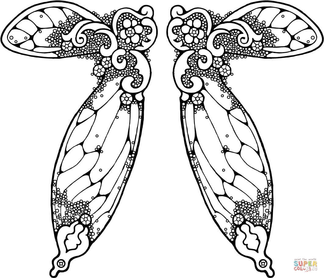 1062x912 Awesome Fairy Wings Heart Coloring Pages Design Free Coloring Pages