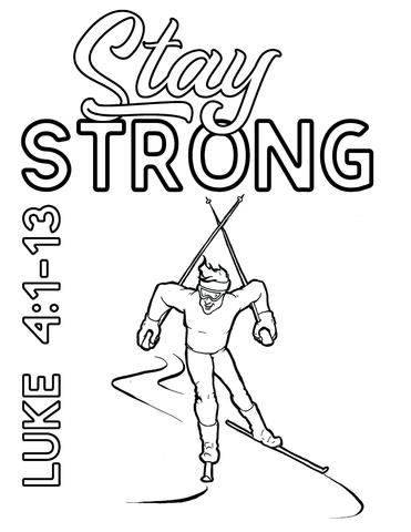 371x480 Cross Country Skier Coloring Page Children's Ministry Deals