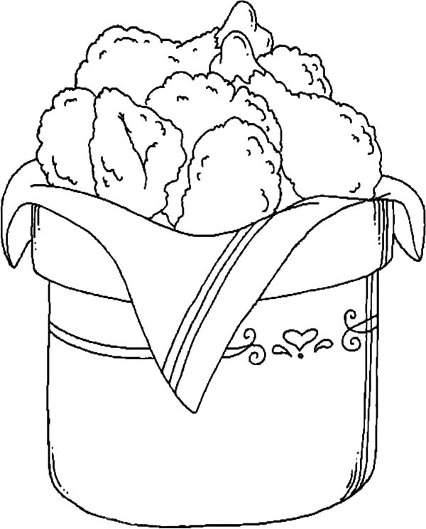 600x745 Bucket Full Of Drumstick Fried Chicken Coloring Pages