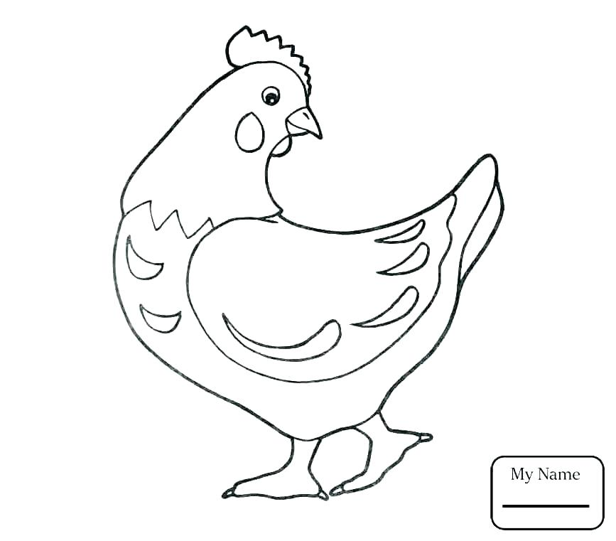 867x761 Chicken Coloring Page Baby Chicken Coloring Pages