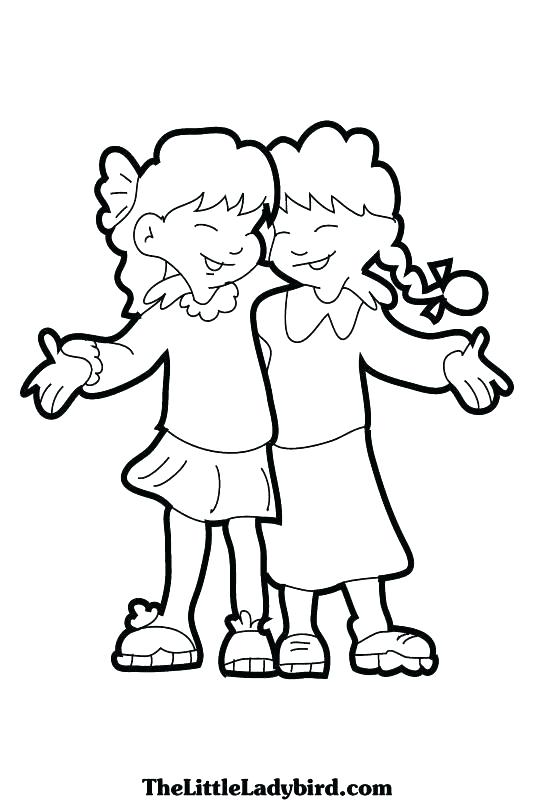 534x800 Friendship Coloring Pages Free Friend Coloring Pages Best Friends