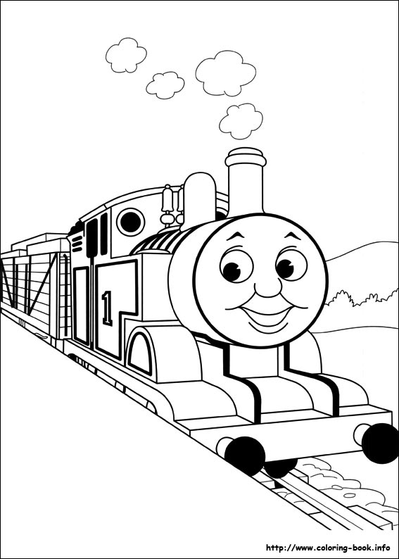 567x794 Modern Thomas The Train Coloring Page Preschool To Tiny Thomas
