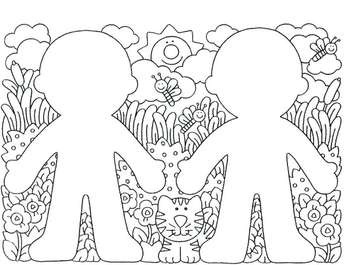704x534 Friendship Coloring Pages For Preschool