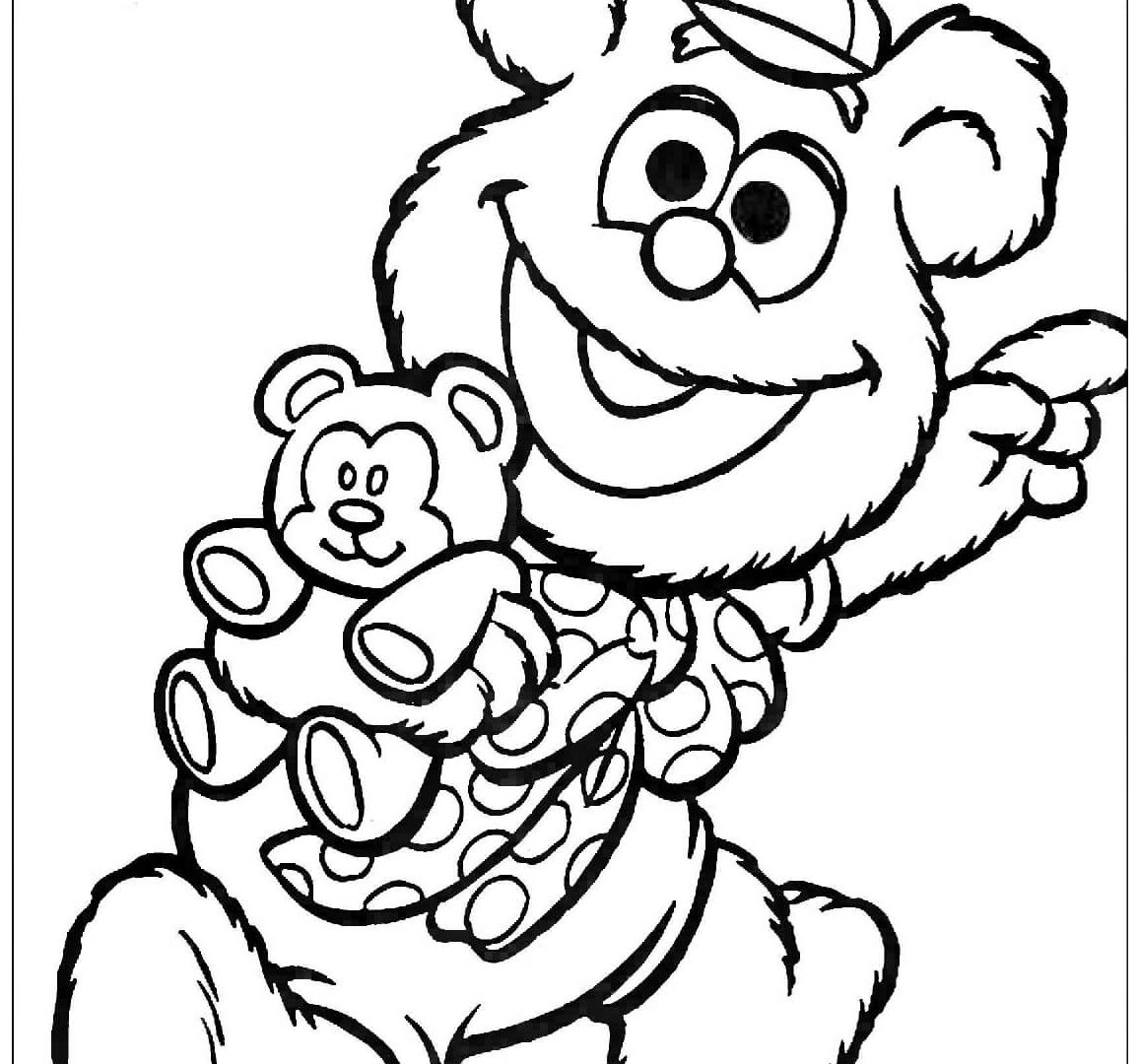 1156x1080 Muppet Babies Goes To Fair Market Coloring Page Free