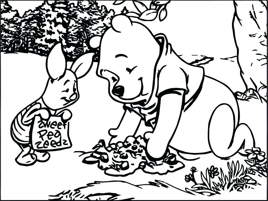 863x648 Pooh Coloring Page The Pooh Coloring Pages Best Friends Playing