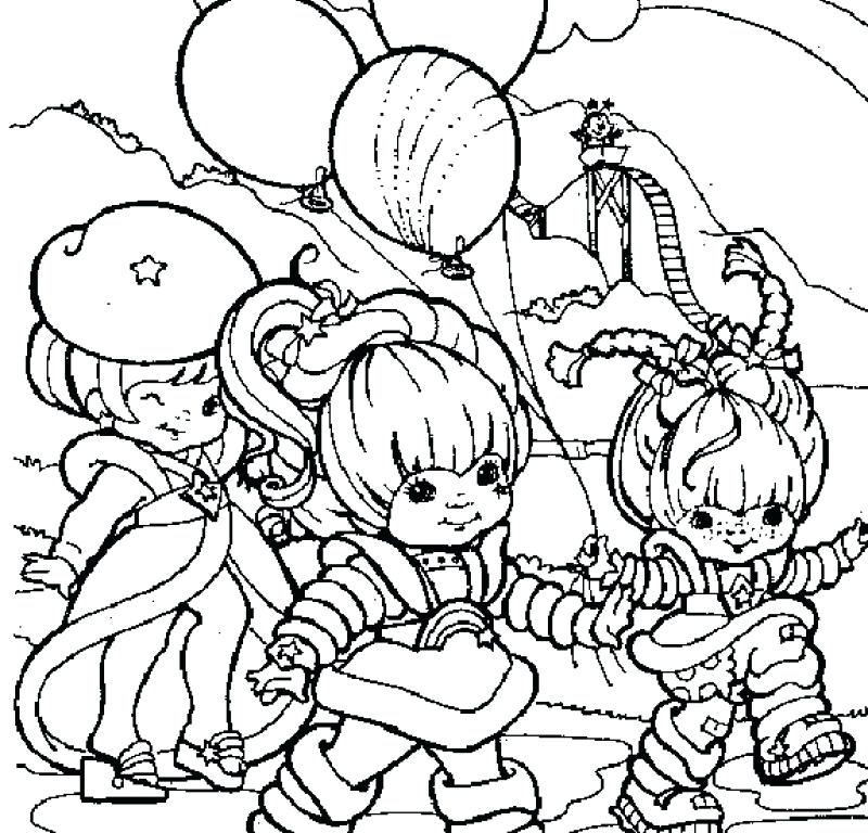 800x768 Rainbow Brite Coloring Pages Rainbow Playing With Both Friends