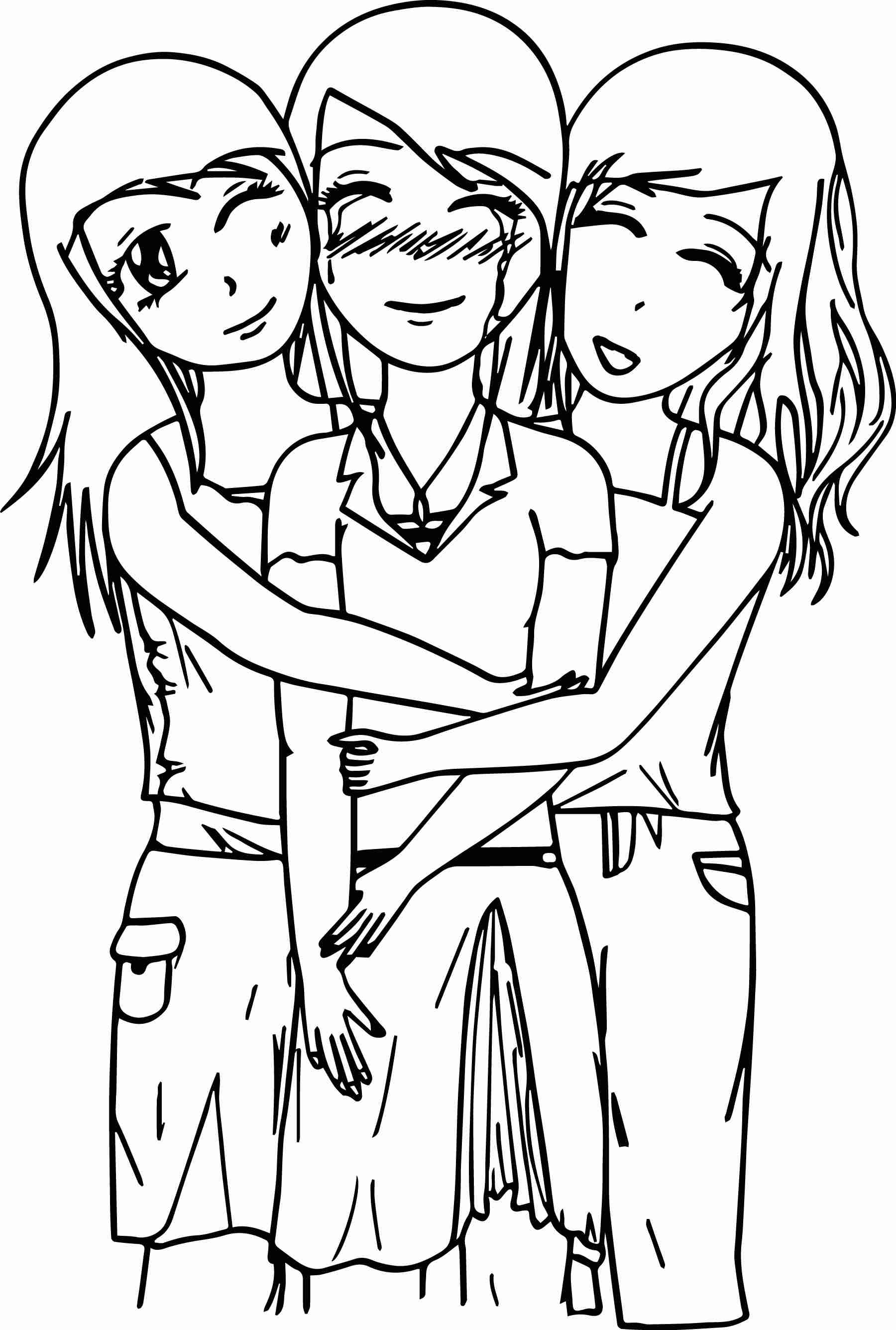 1800x2671 Unparalleled Coloring Pages Showing Friendship Best Friend
