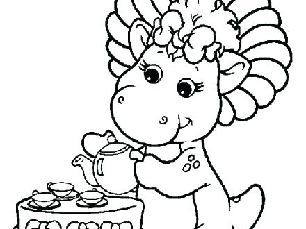 440x330 Barney Coloring Pages Barney Coloring Pages Friends Coloring Pages