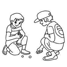 220x220 Boys Playing Marbles In The School Yard Coloring Pages