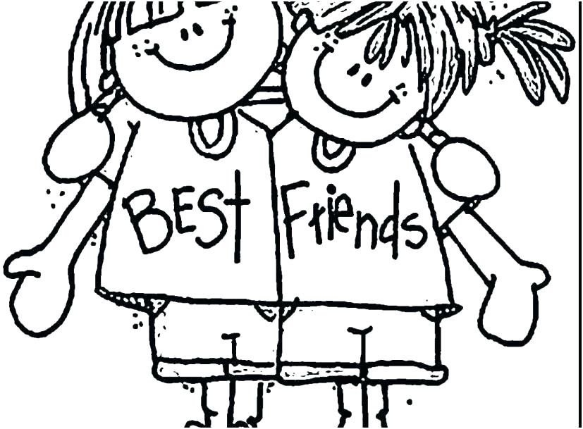 827x609 Friendship Coloring Pages Friends Coloring Pages Happy Tree