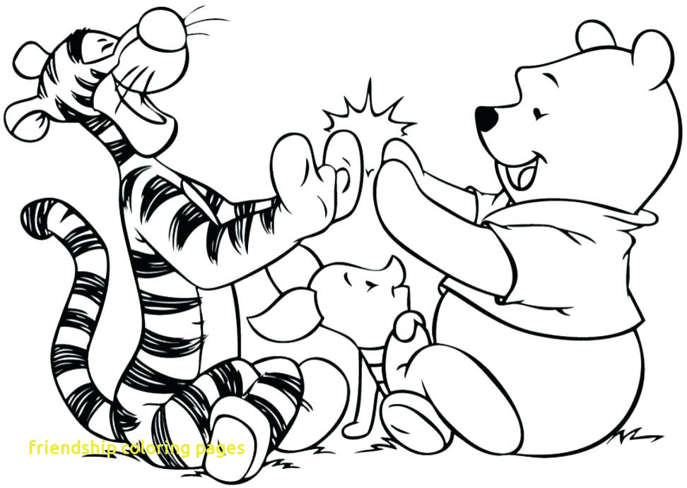 972x691 Friendship Coloring Pages With Friendship Coloring Page