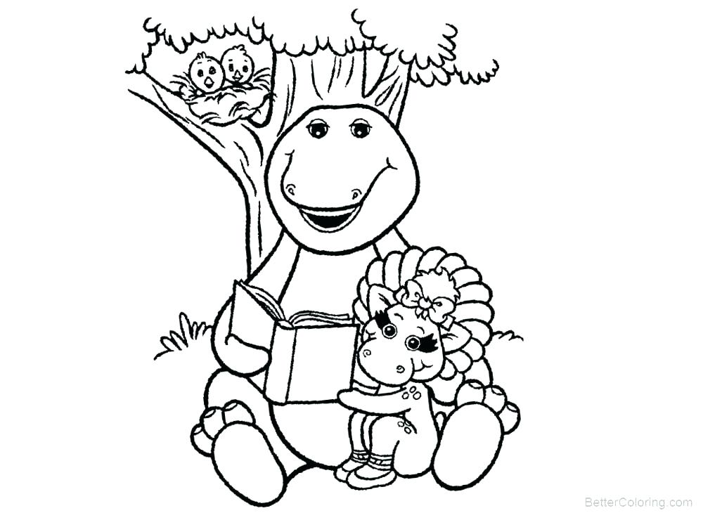 1000x730 Barney And Friends Coloring Pages Barney Coloring Page Barney