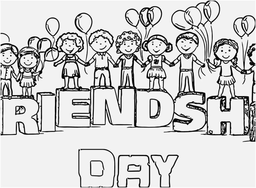 Friendship Coloring Pages At GetDrawings Free Download