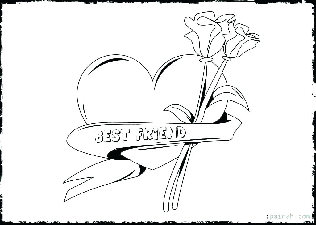 1024x728 Friendship Coloring Page