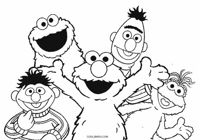 650x458 Elmo Coloring Page