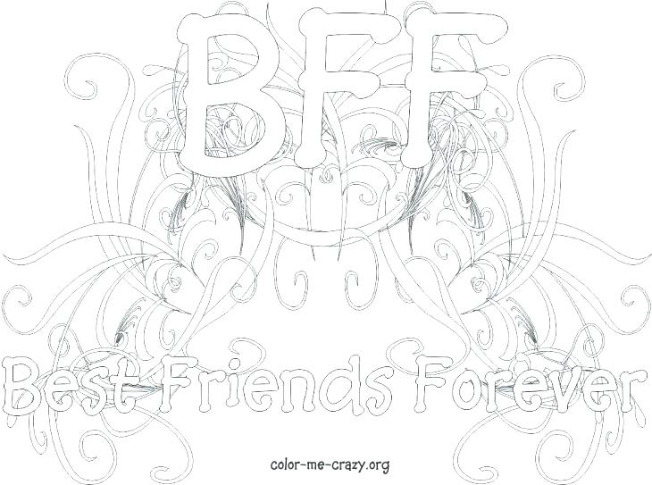Friendship Coloring Pages Printable