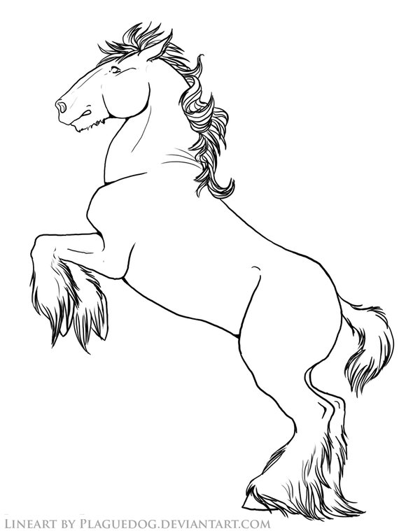 600x759 Friesian Horse Rearing Coloring Pages