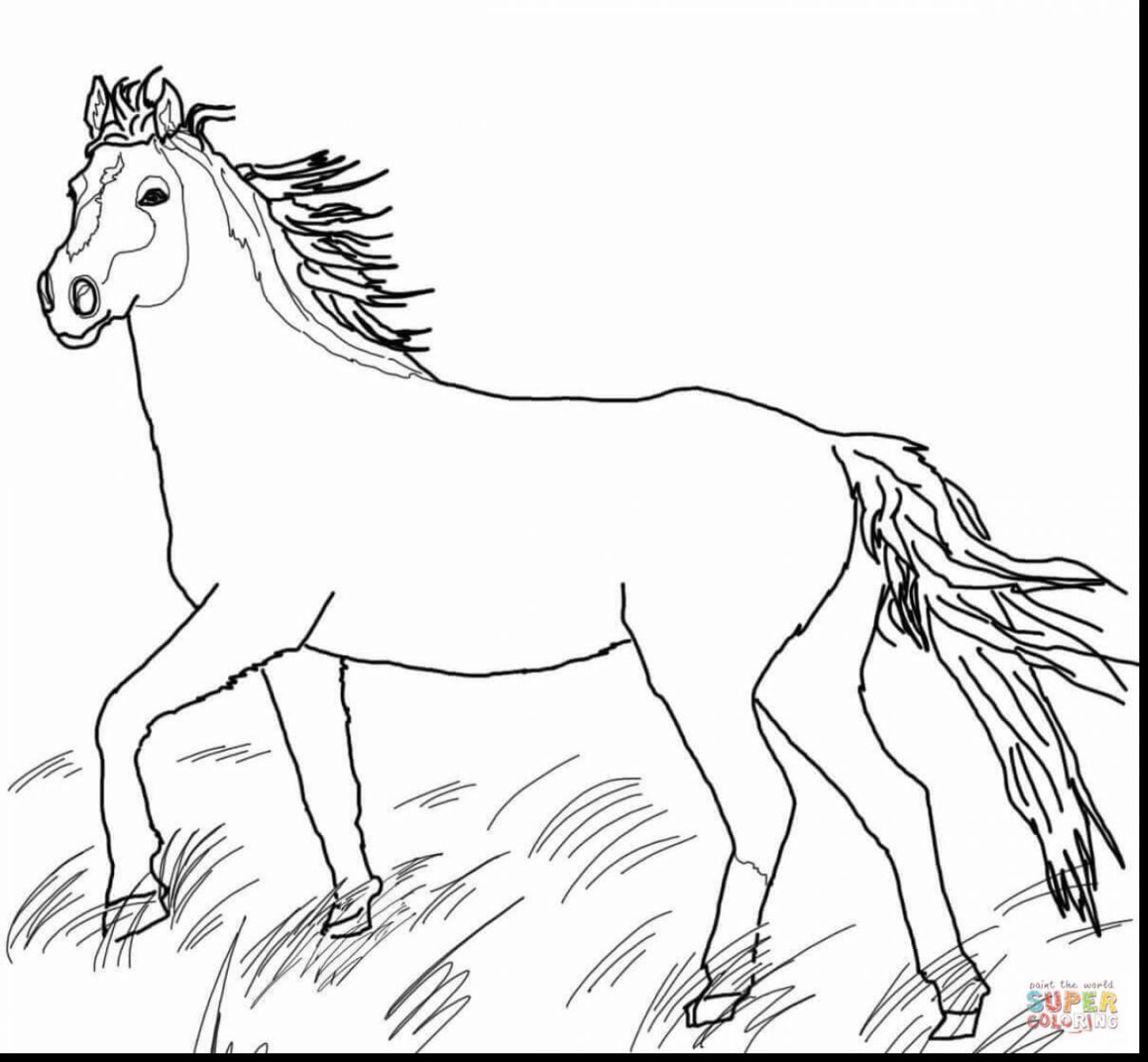 1320x1221 Largest Horseback Riding Coloring Pages Friesian Horse Page Free