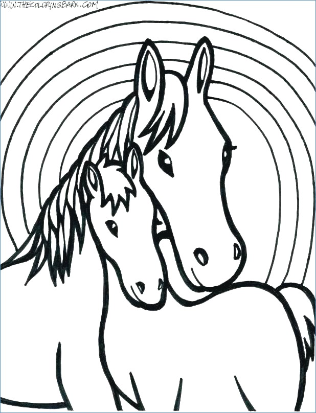 618x808 Magnificent Friesian Horse Head Coloring Pages Gift