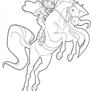 300x300 Bailey Handler And Aztec From Horseland Coloring Pages Batch