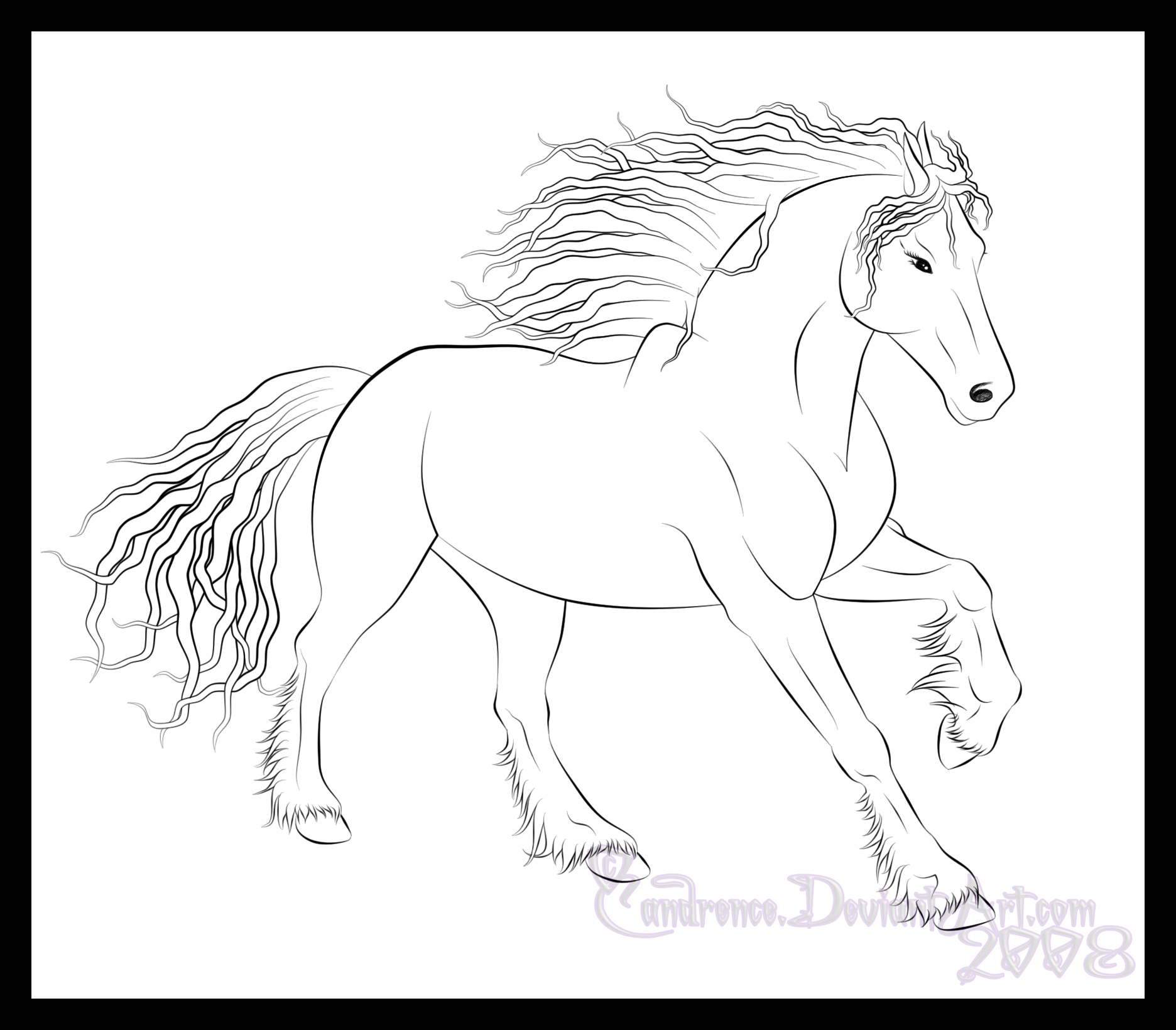 1872x1640 Friesian Horse Colouring Pages Coloring Pages