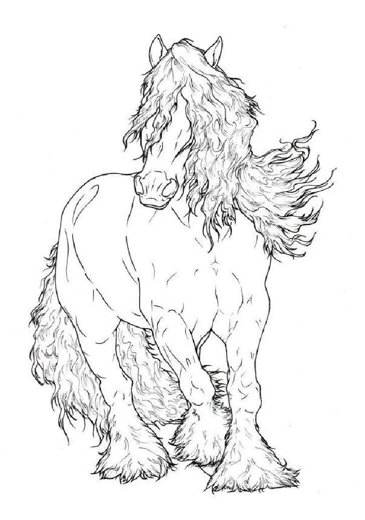 728x1036 Charming Design Horse Coloring Pages For Adults Best Drawings