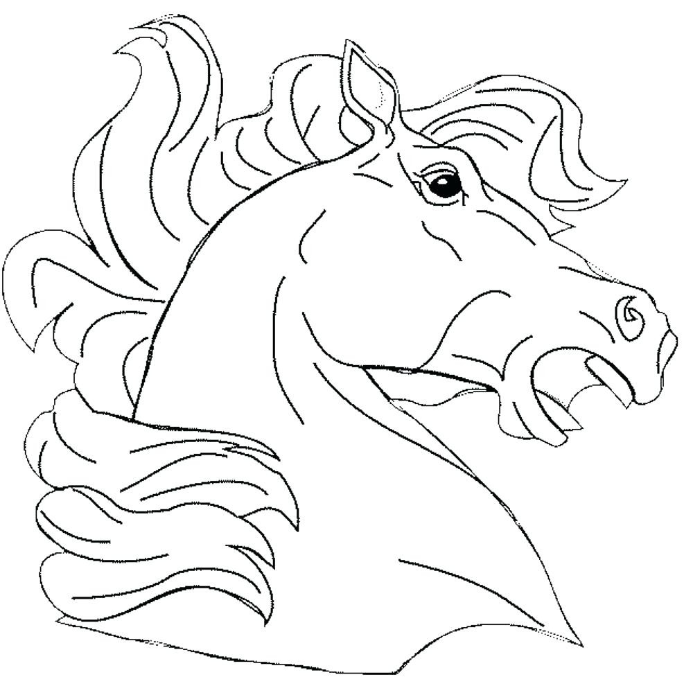 1000x977 Fascinating Wonderful Friesian Horse Head Coloring Ideas Entry