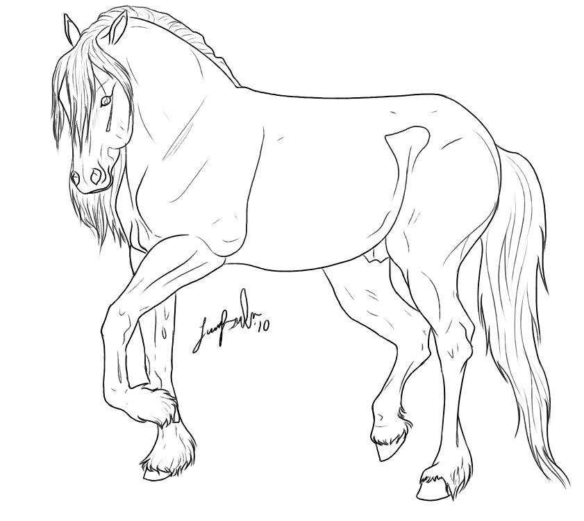 841x750 Friesian Coloring Pages Thoroughbred Horse
