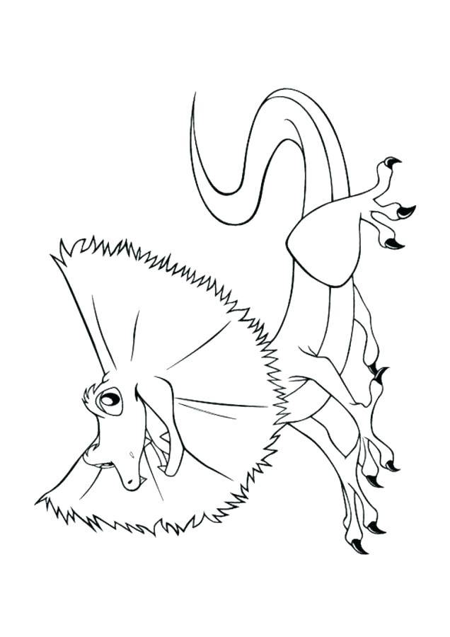 636x900 Lizard Coloring Page