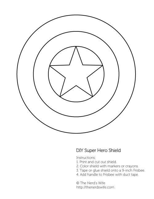 500x647 Diy Captain America Shield Free Printable Captain America Shield