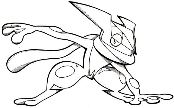 577x359 Greninja Pokemon Coloring Pages