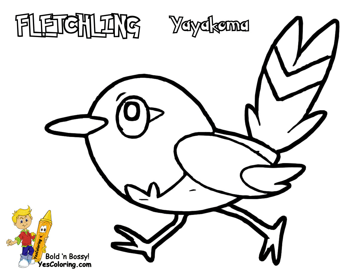 1200x927 Pokemon Coloring Pages Fletchling Froakie Page Free Printable