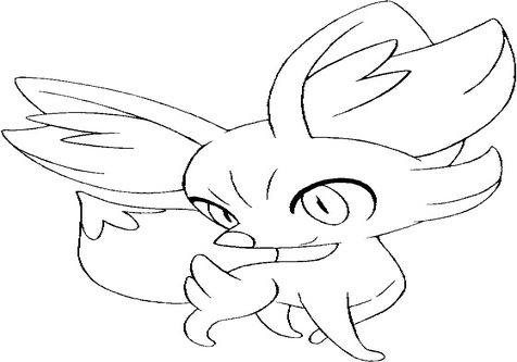 476x333 Chespin Fennekin Froakie Coloring Pages Page Image Clipart Images