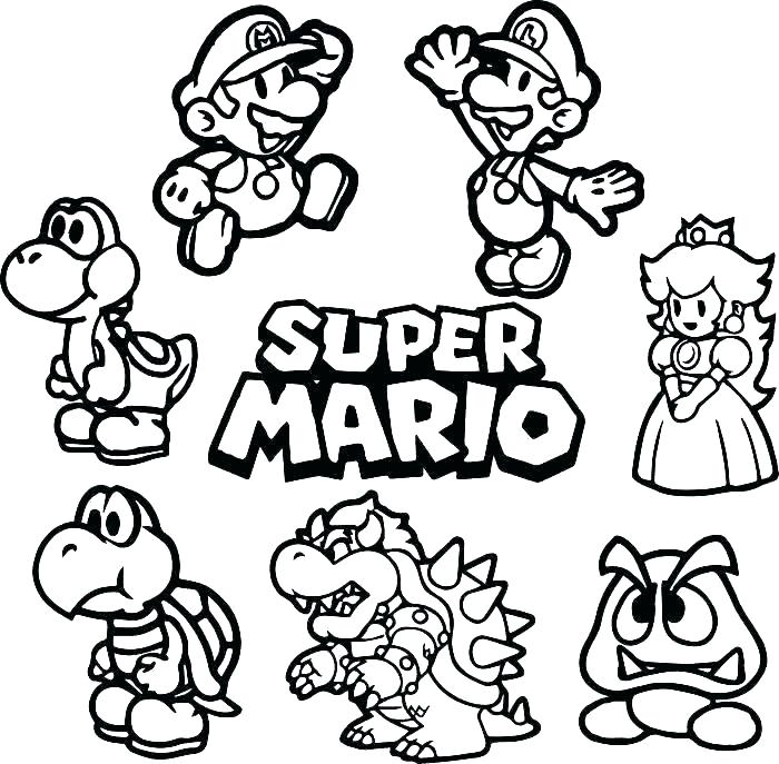 700x687 Toad Coloring Page