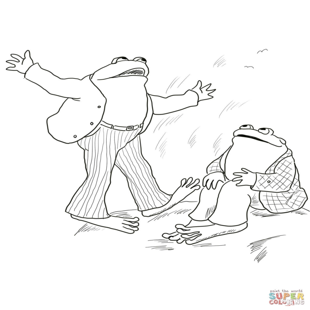 1024x1024 Frog And Toad Are Friends Coloring Page Free Printable Coloring